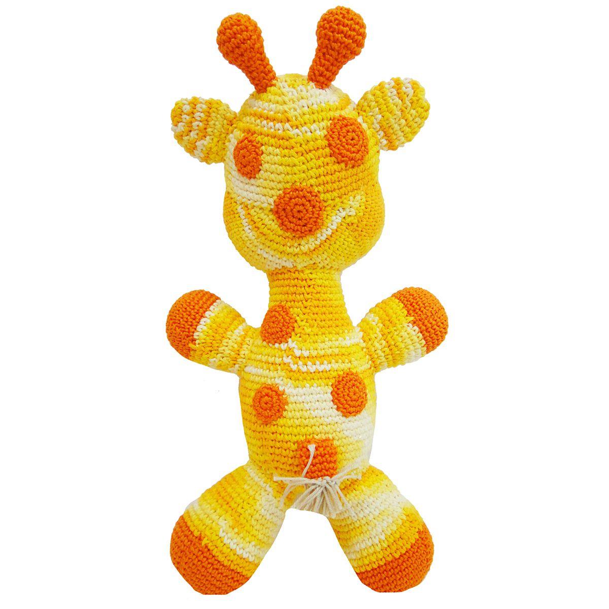 Girafa Animal Croche Amigurumi Fofinho Grande Amarela