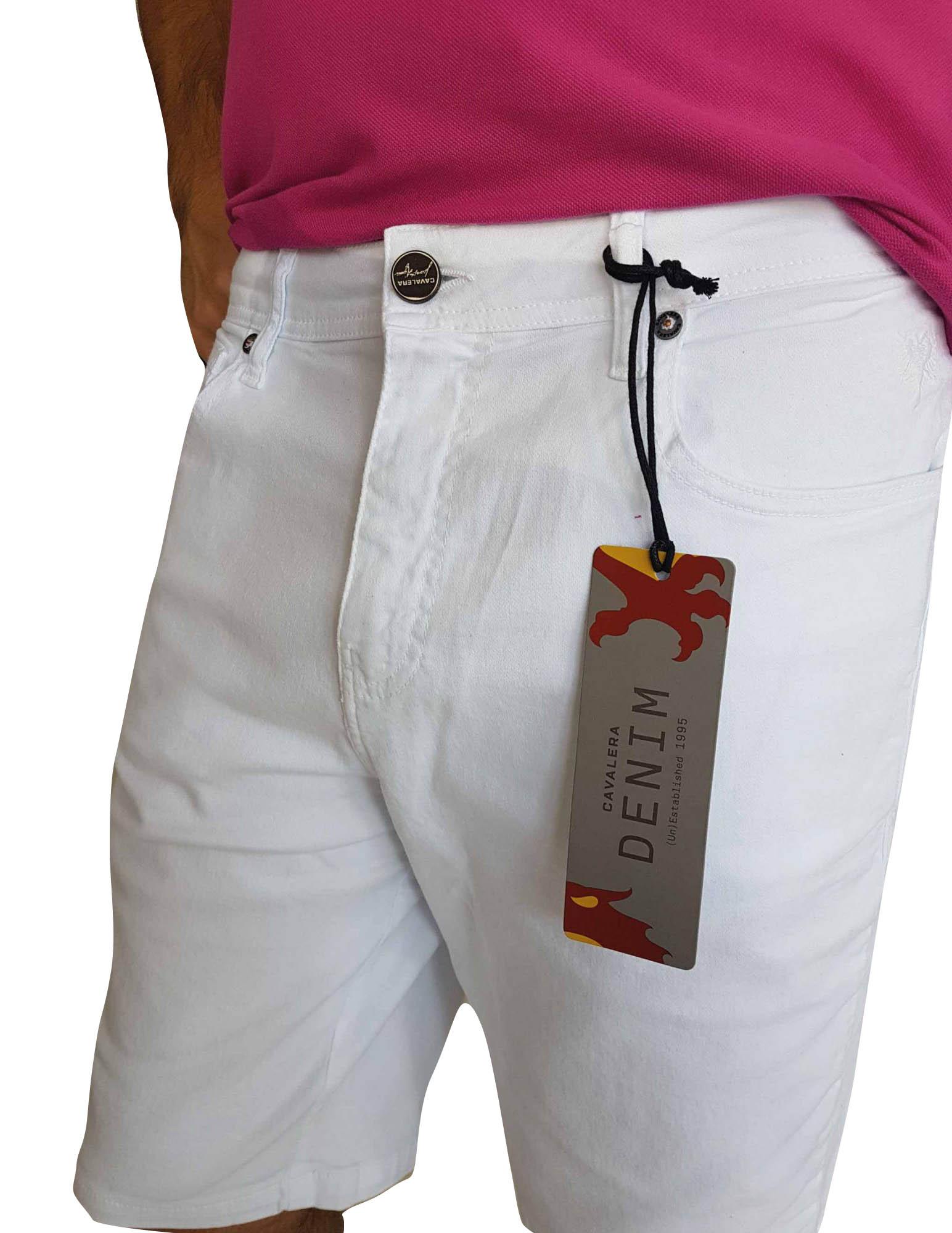 Bermuda Cavalera Masculina Branca Conforto