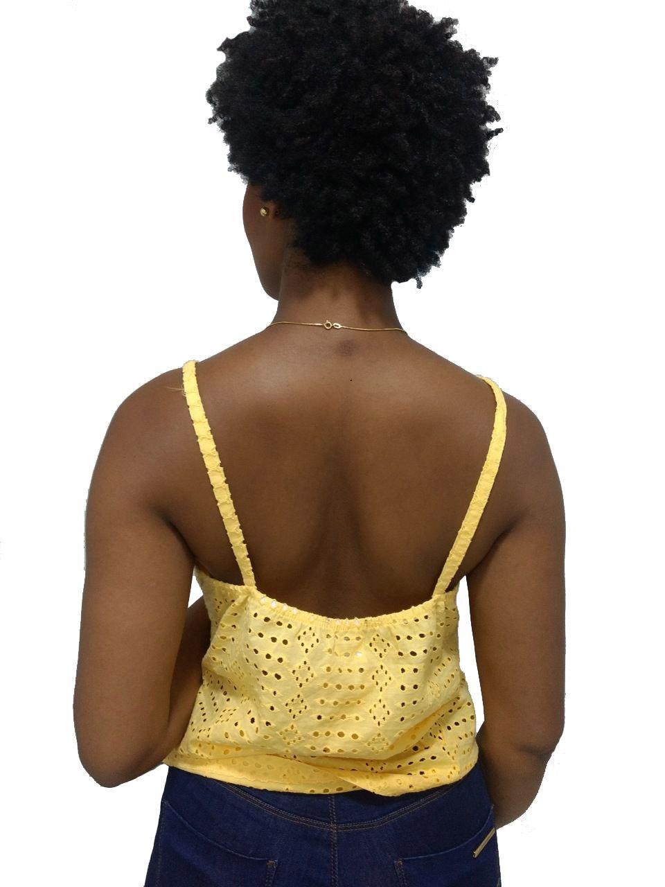 Blusa Feminina Chocris Amarela Regata