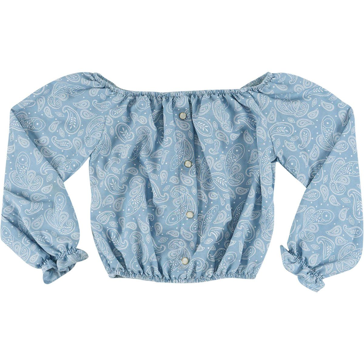 Blusa Feminina Floral Look Jeans