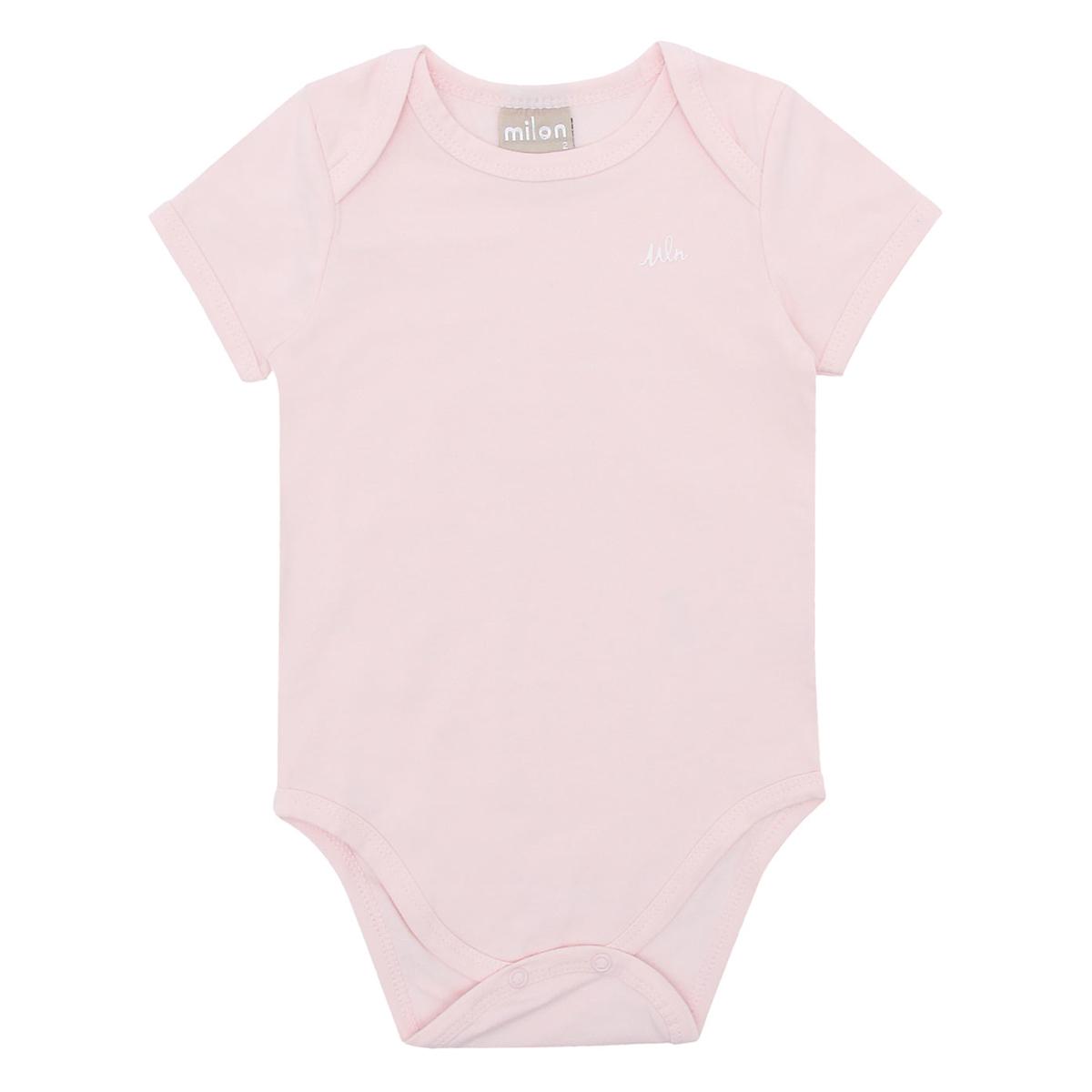 Body Bebê Milon Feminino Rosa Iogurte