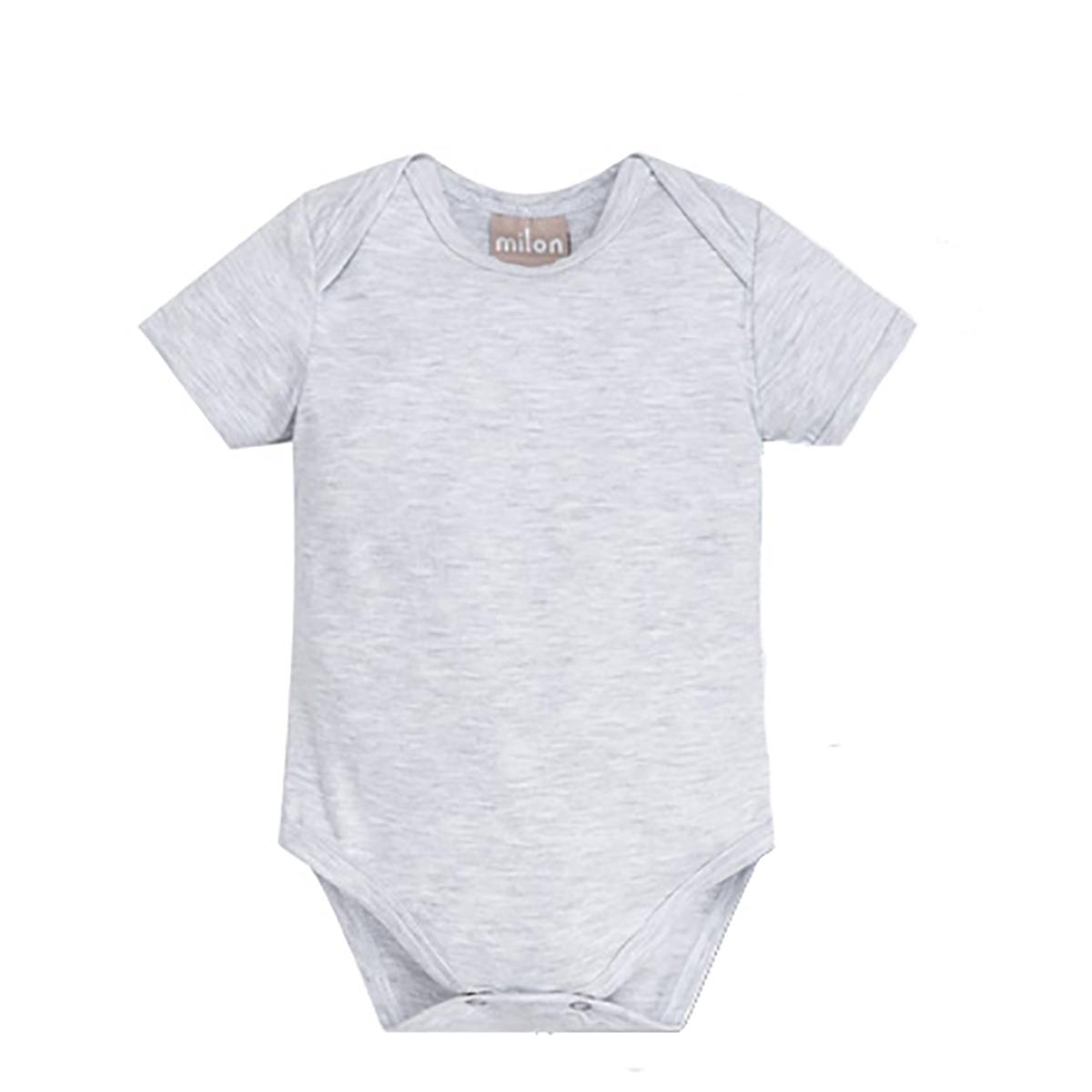 Body Bebê Milon Masculino Cinza