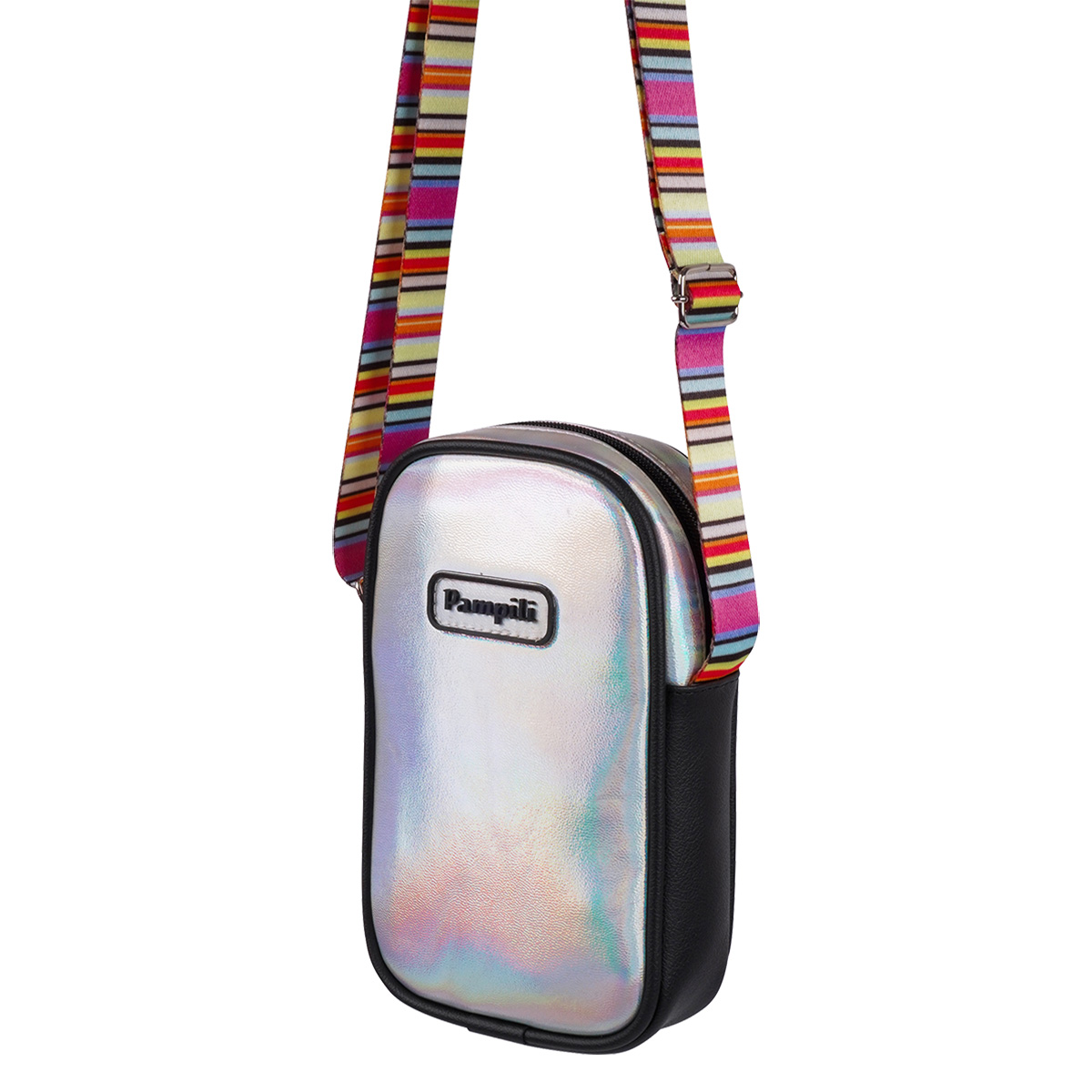 Bolsa Pampili Infantil Feminina Mini Bag Listras Coloridas