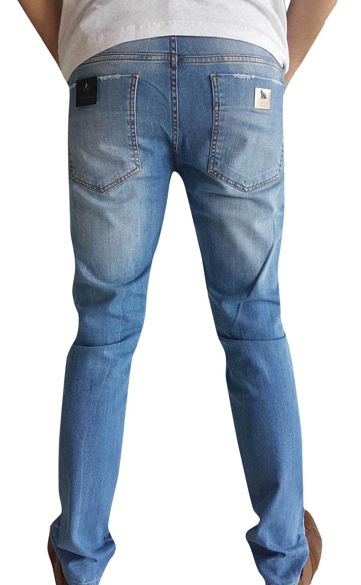 Calça Acostamento Masculina Jeans Conforto