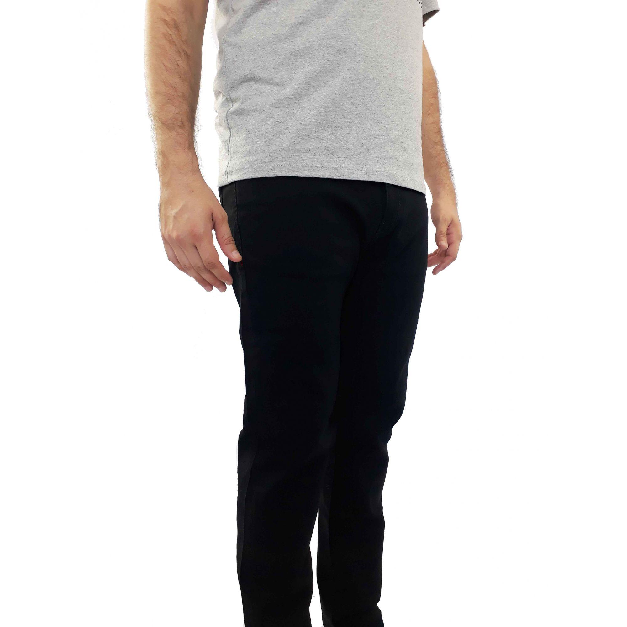 Calça Cavalera Masculina Jeans Preta