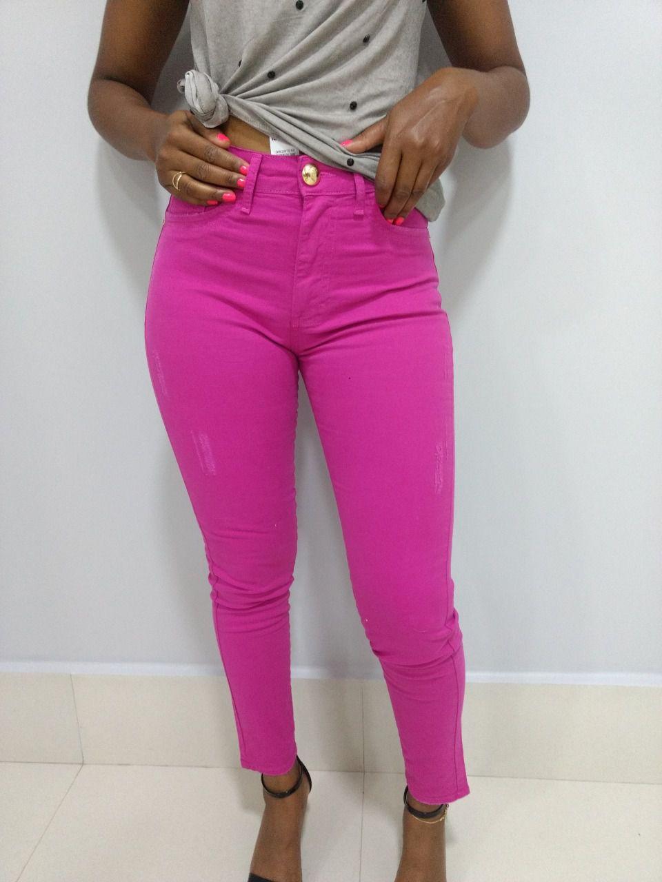 Calça Jeans Feminina Pink Sarja  - Pick Tita