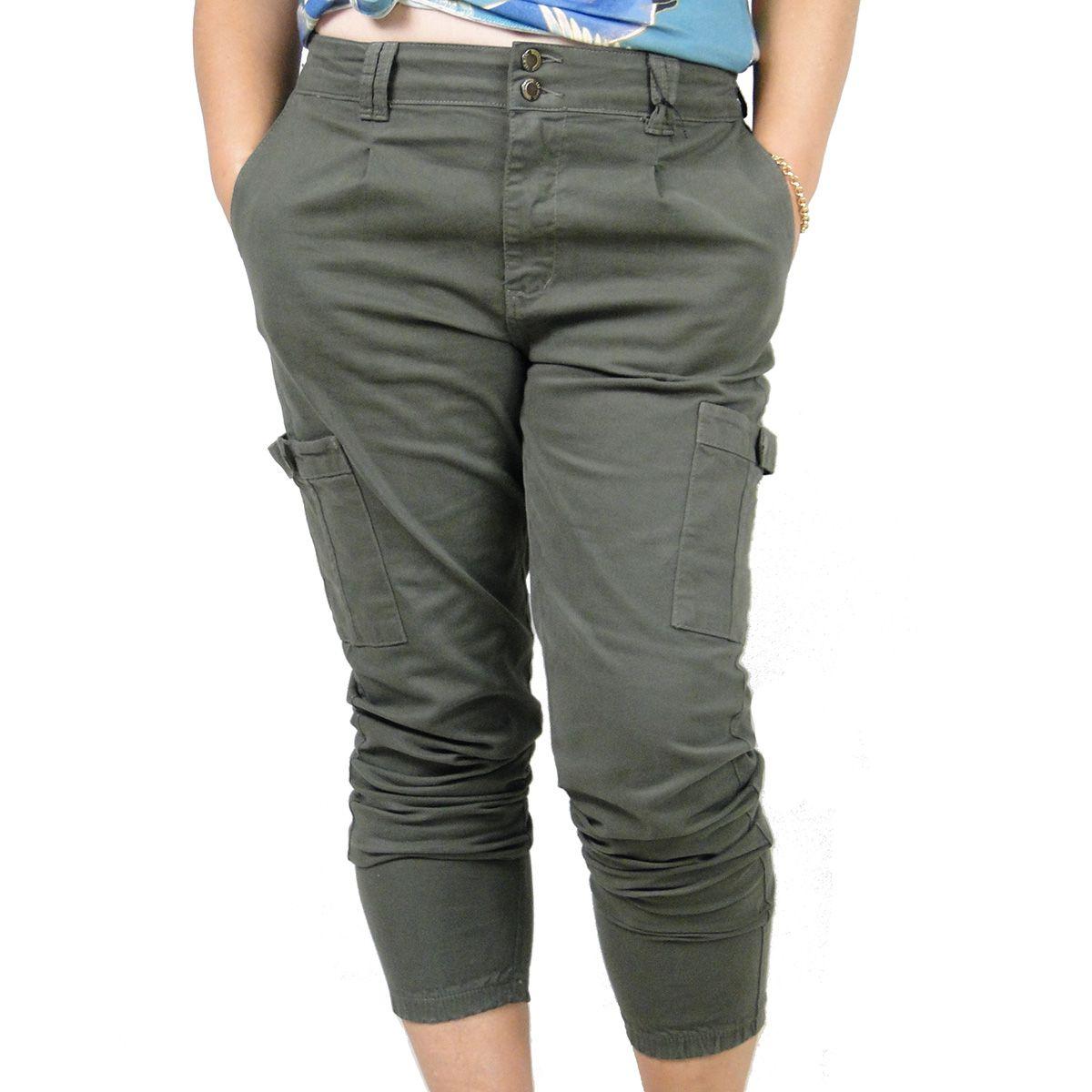 Calça Lenis Feminina Jeans Jogger Verde