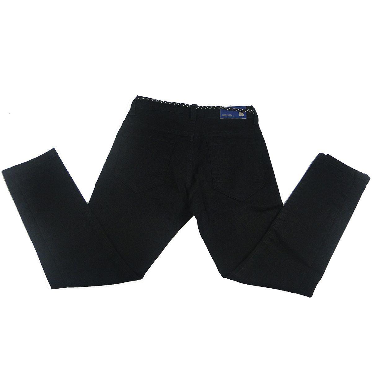 Calça Ogochi Masculina Jeans Preto Skinny