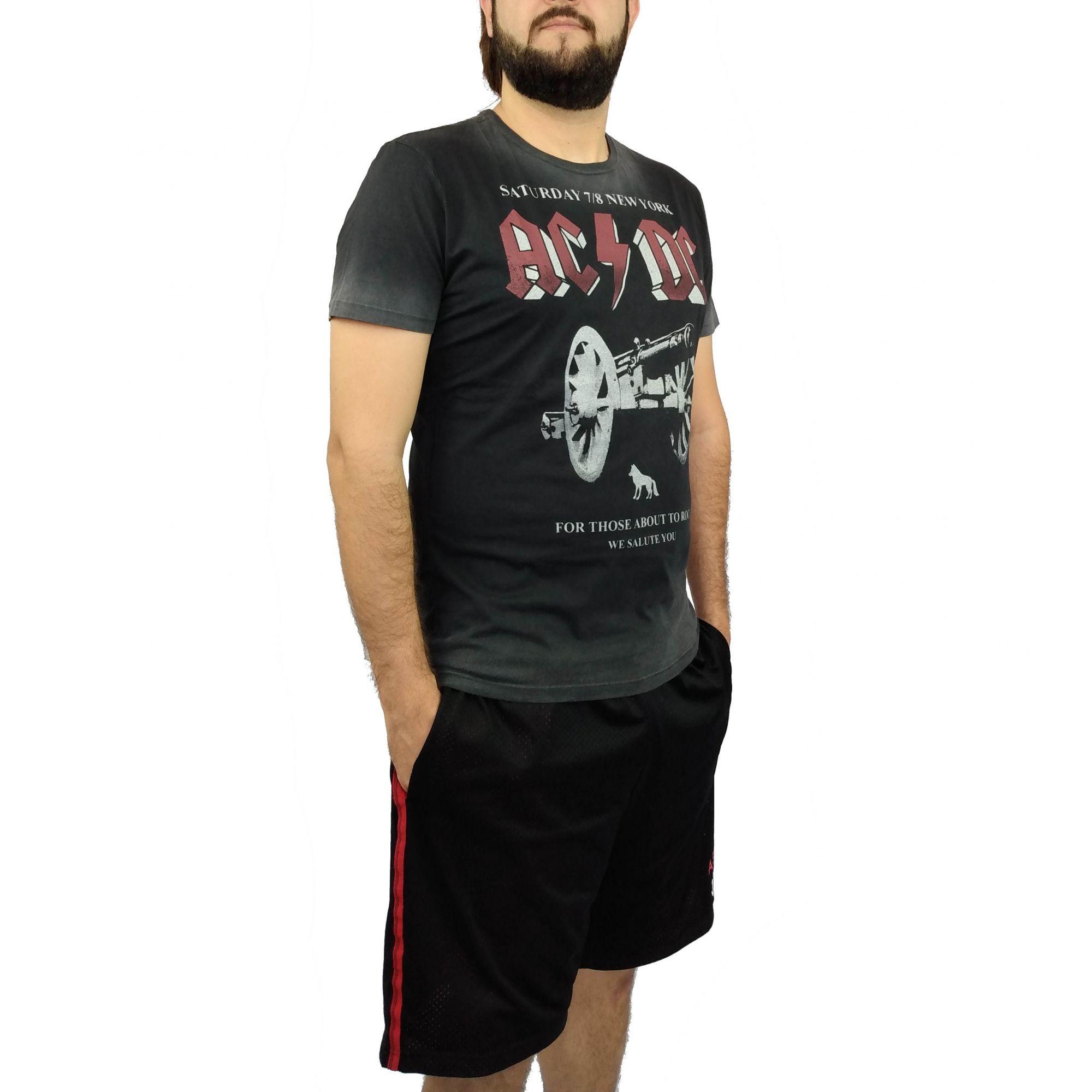 Camiseta Acostamento Masculina ACDC New York