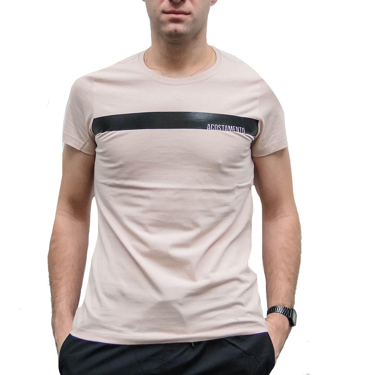 Camiseta Acostamento Masculina Riviera Rosa