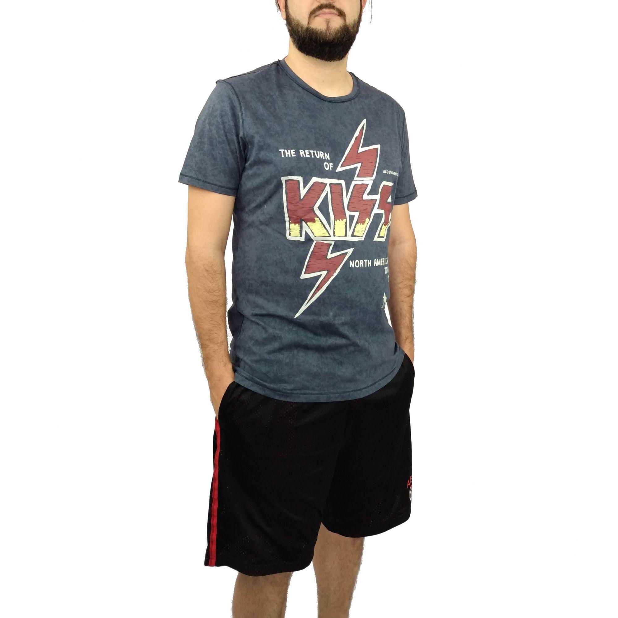 Camiseta Acostamento Masculina Banda Kiss