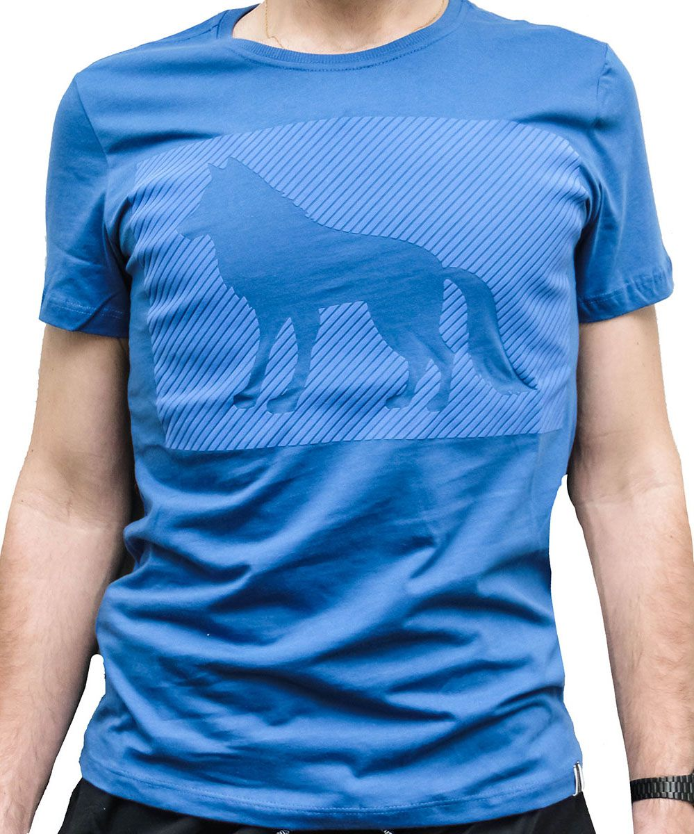 Camiseta Acostamento Masculina Lobo Azul