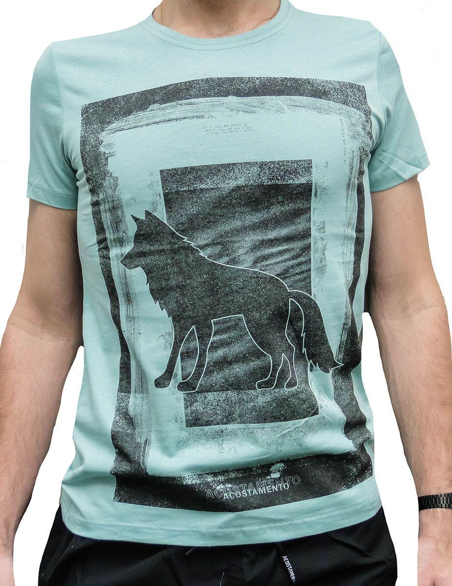 Camiseta Acostamento Masculina Lobo Verde