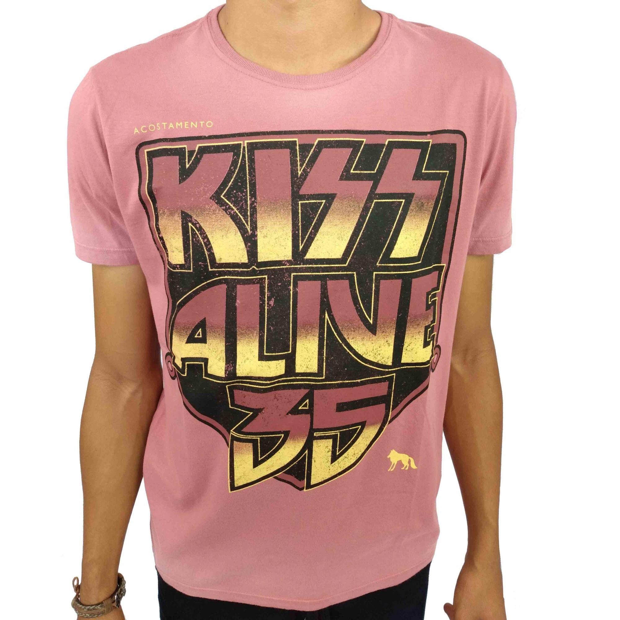 Camiseta Acostamento Masculina Kiss Alive 35