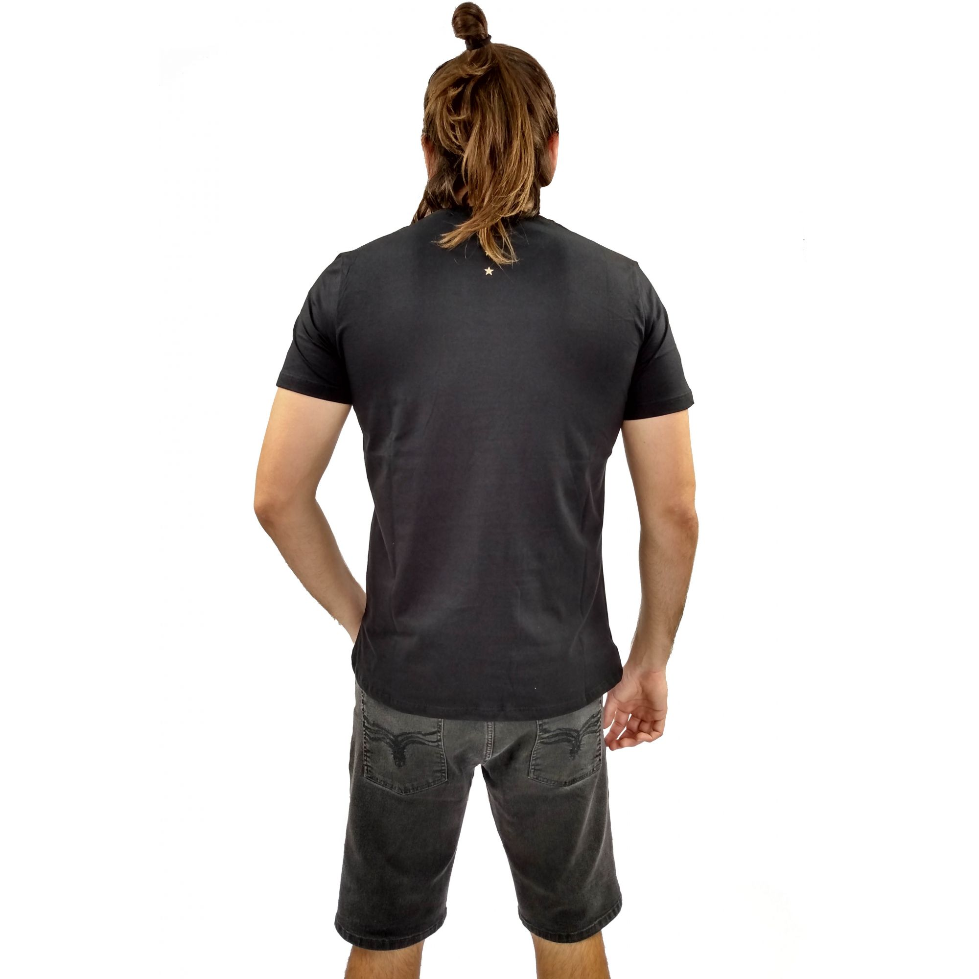 Camiseta Acostamento Masculina Nirvana Unplugged Preto