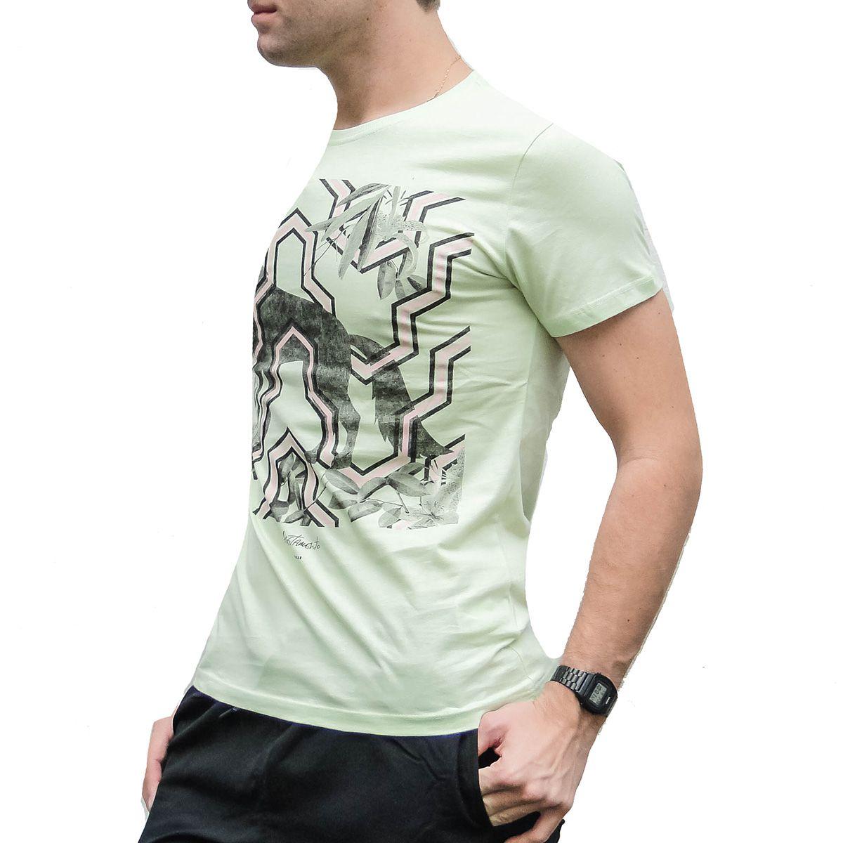 Camiseta Acostamento Verde Lobo Selvagem