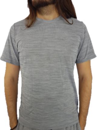 Camiseta Alto Giro Masculina Skin Fit Cinza