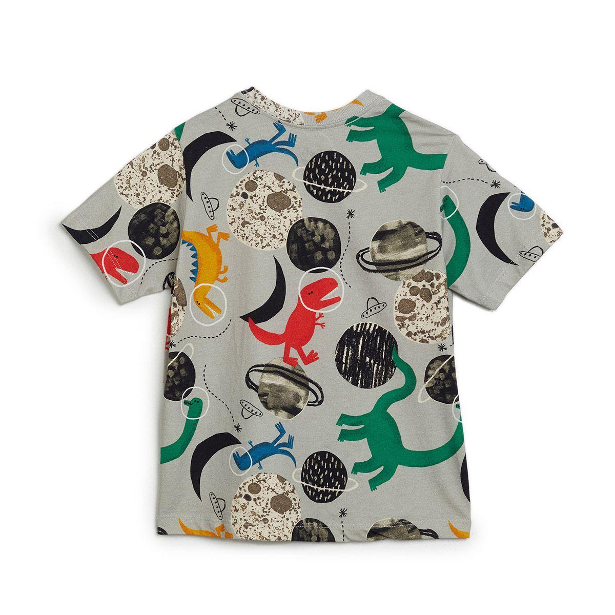 Camiseta Bento Masculina Dino Planetas