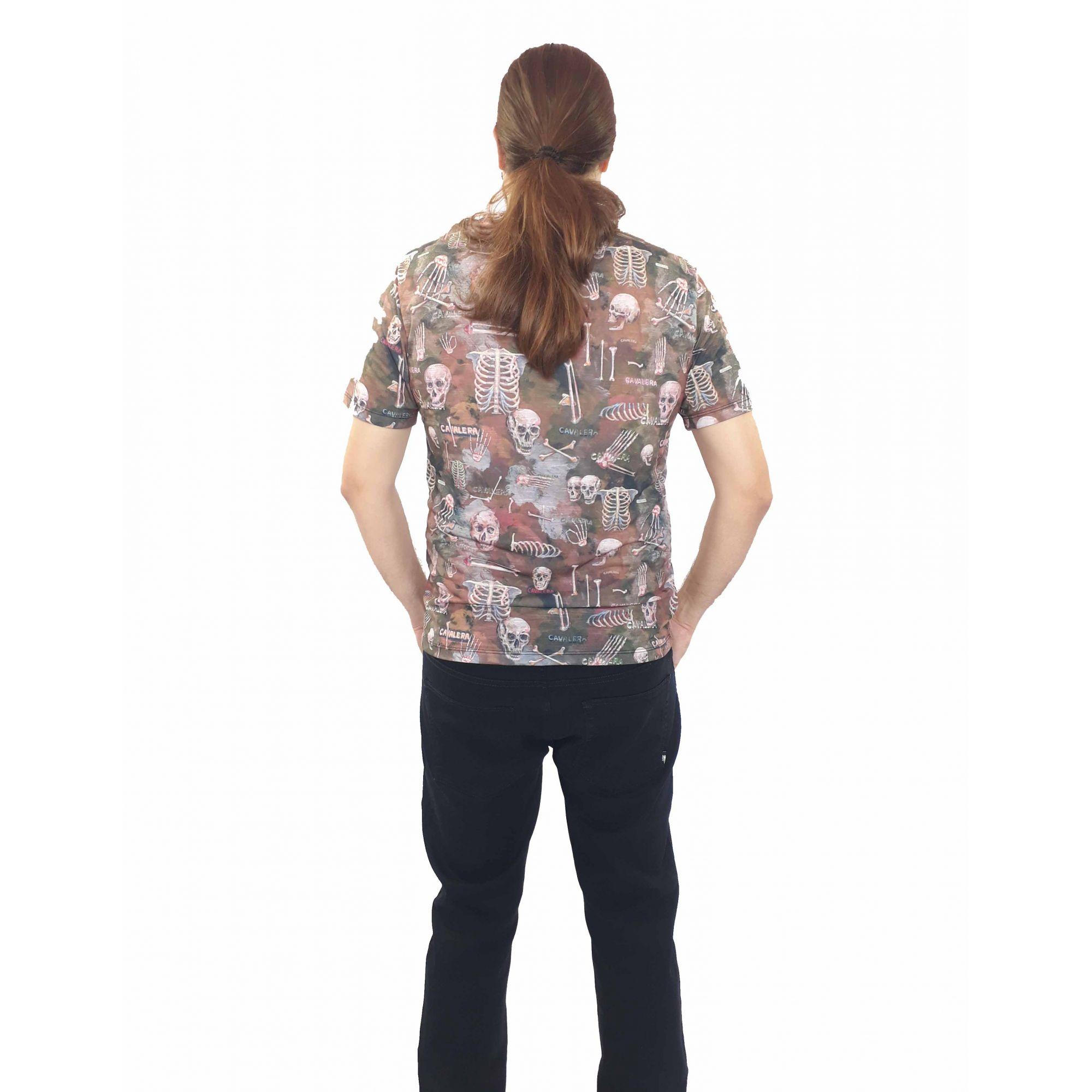 Camiseta Cavalera Masculina Esqueleto Estampada