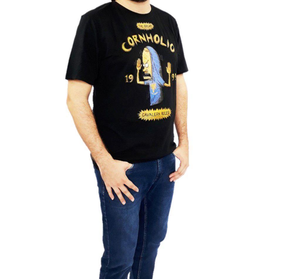 Camiseta Cavalera Cornholio Beavis And Butthead Preta