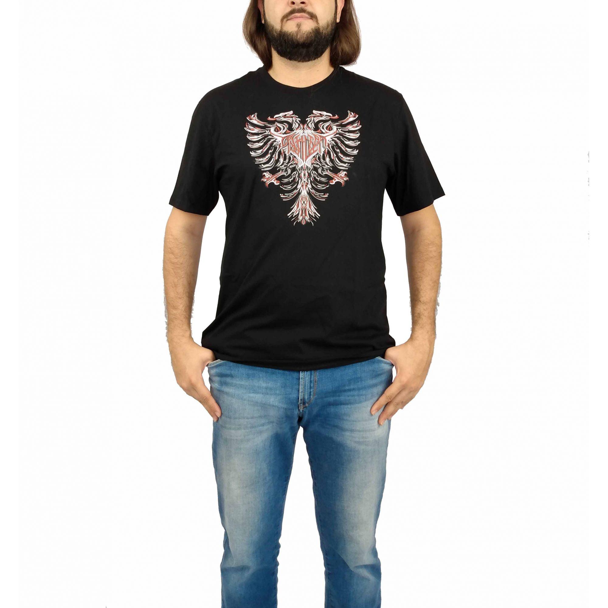 Camiseta Cavalera Masculina Águia Desenhada