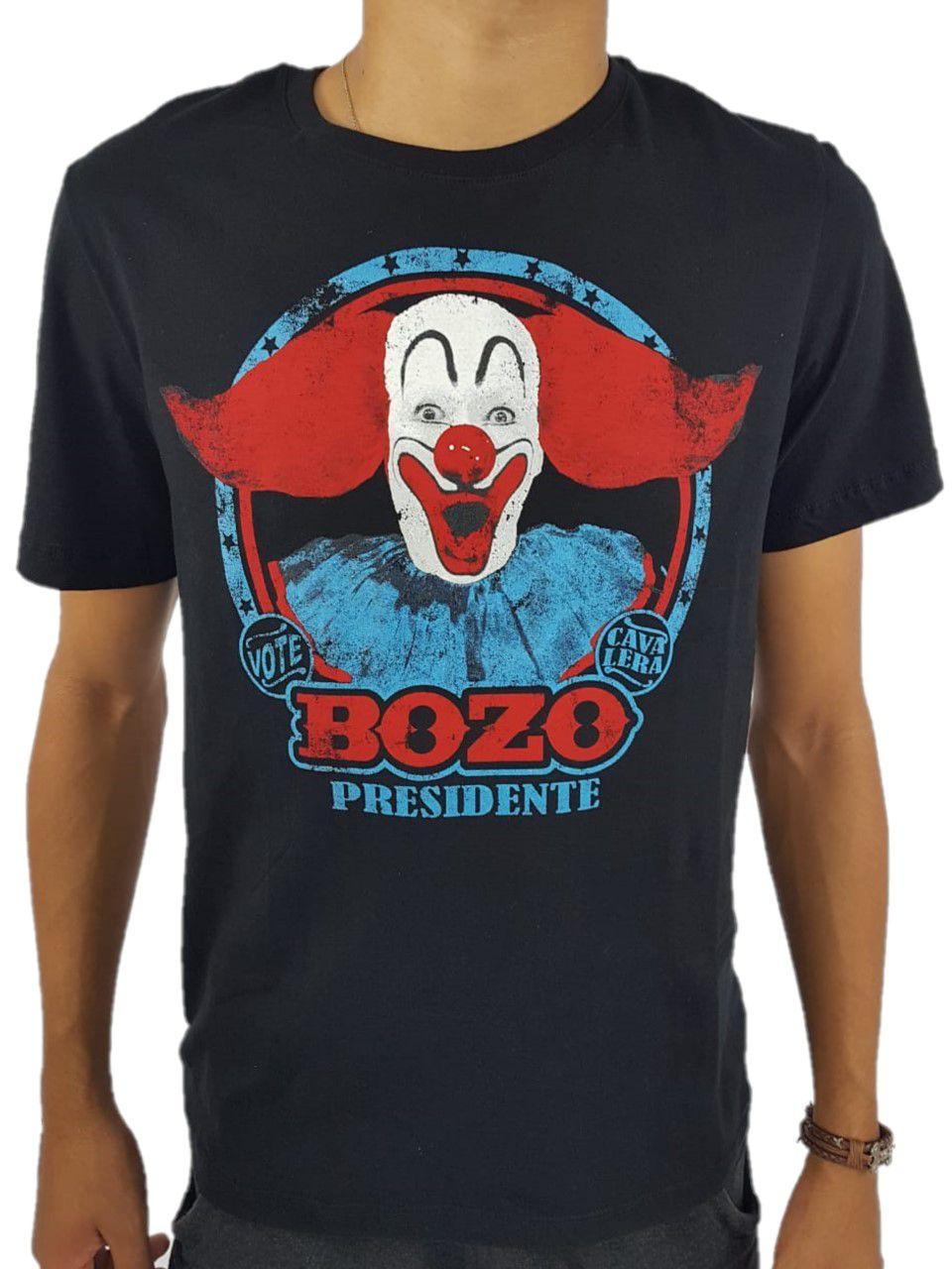 Camiseta Cavalera Masculina Bozo Preta