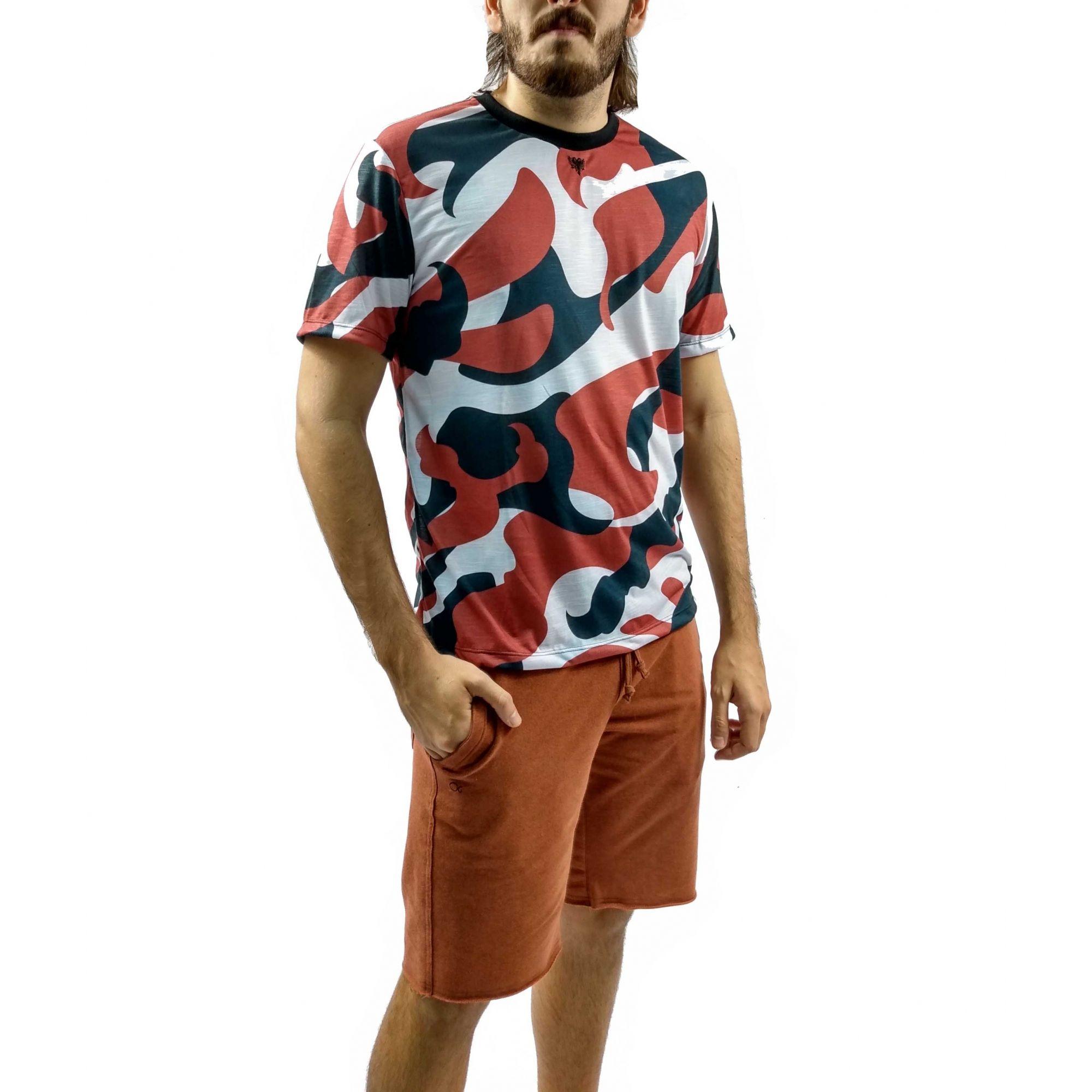 Camiseta Cavalera Masculina Camuflada Bomber Camo