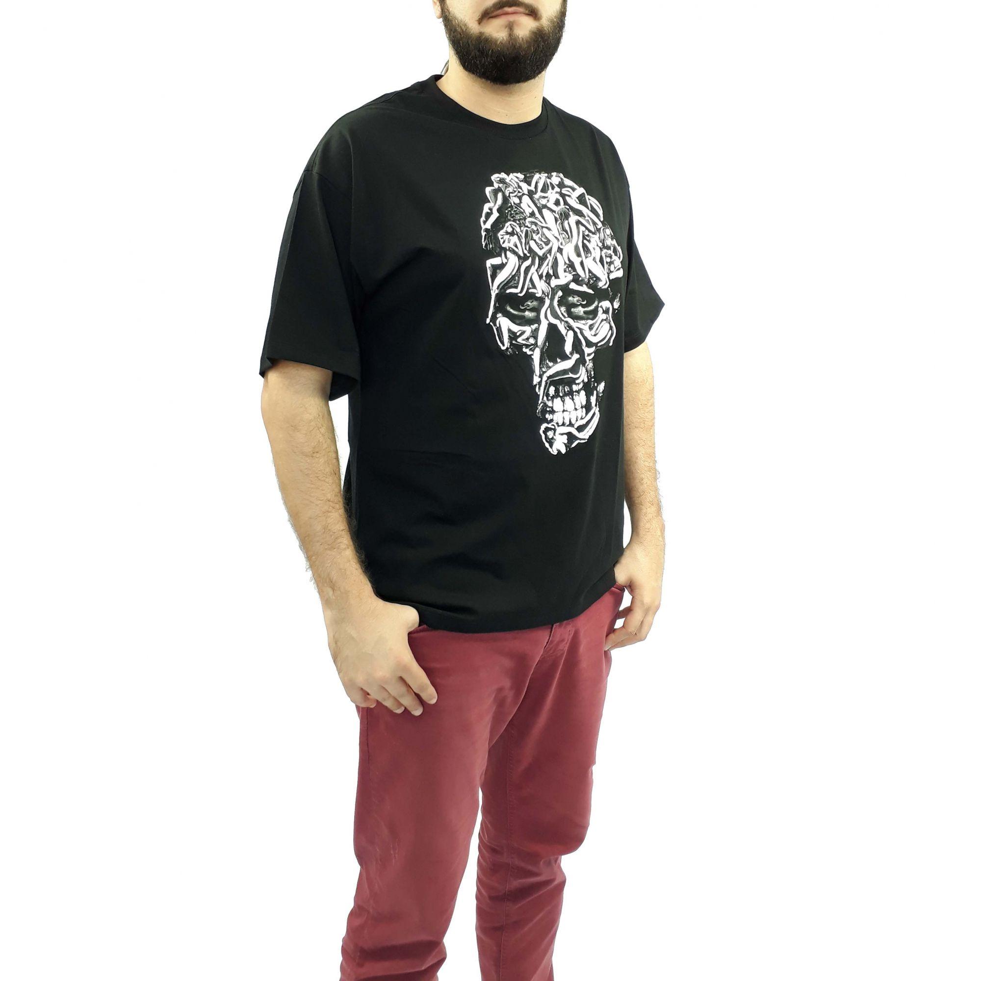 Camiseta Cavalera Masculina Caveira Preta