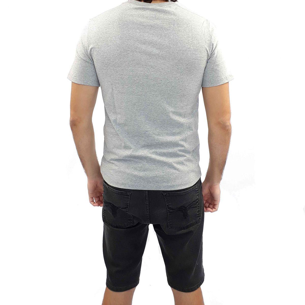 Camiseta Cavalera Masculina Cinza Face Estampada