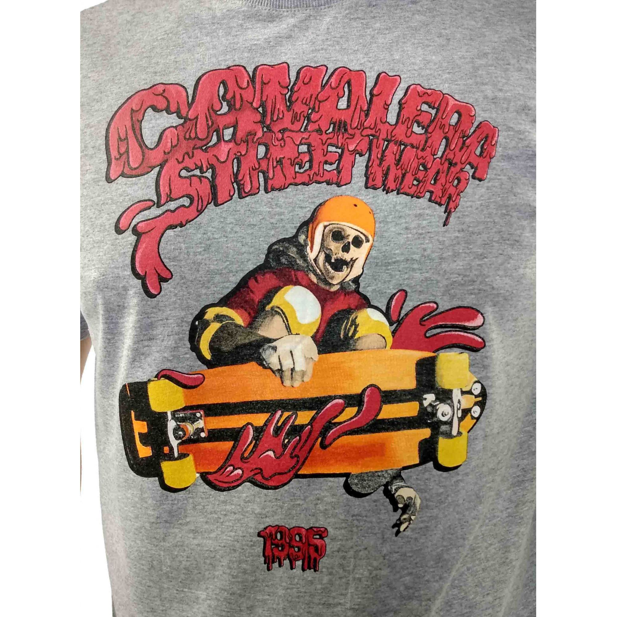 Camiseta Cavalera Masculina Esqueleto Skate Street Wear