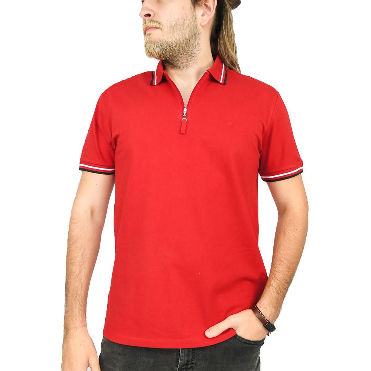 Camiseta Cavalera Masculina Gola Polo Ziper
