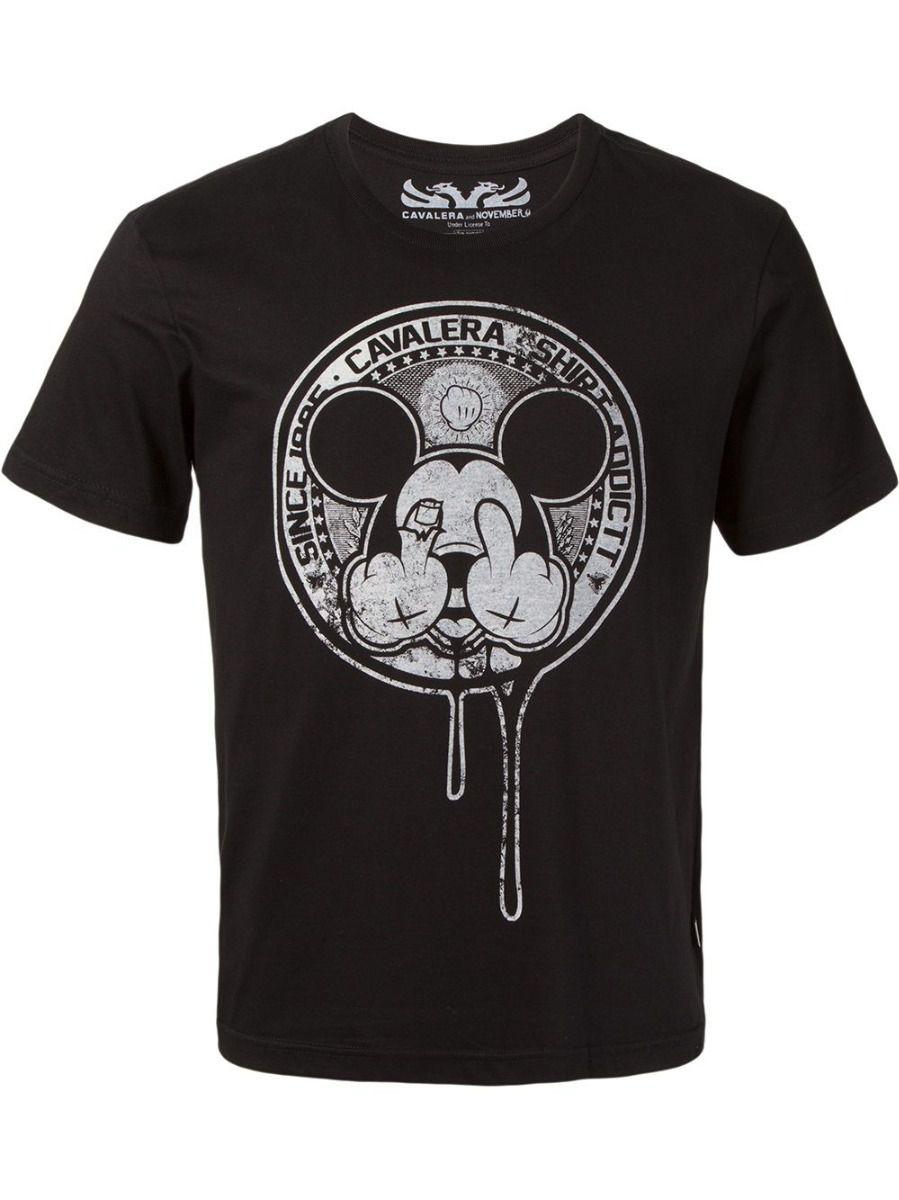 Camiseta Cavalera Masculina Manga Curta Mickey