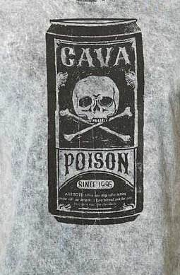 Camiseta Cavalera Masculina Manga Curta Poison Lata