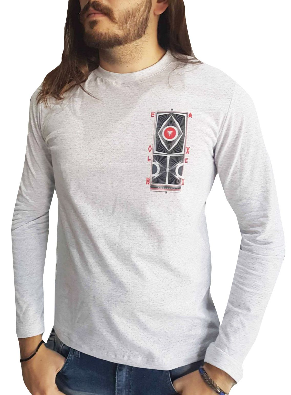 Camiseta Cavalera Masculina Manga Longa Clothing Mescla