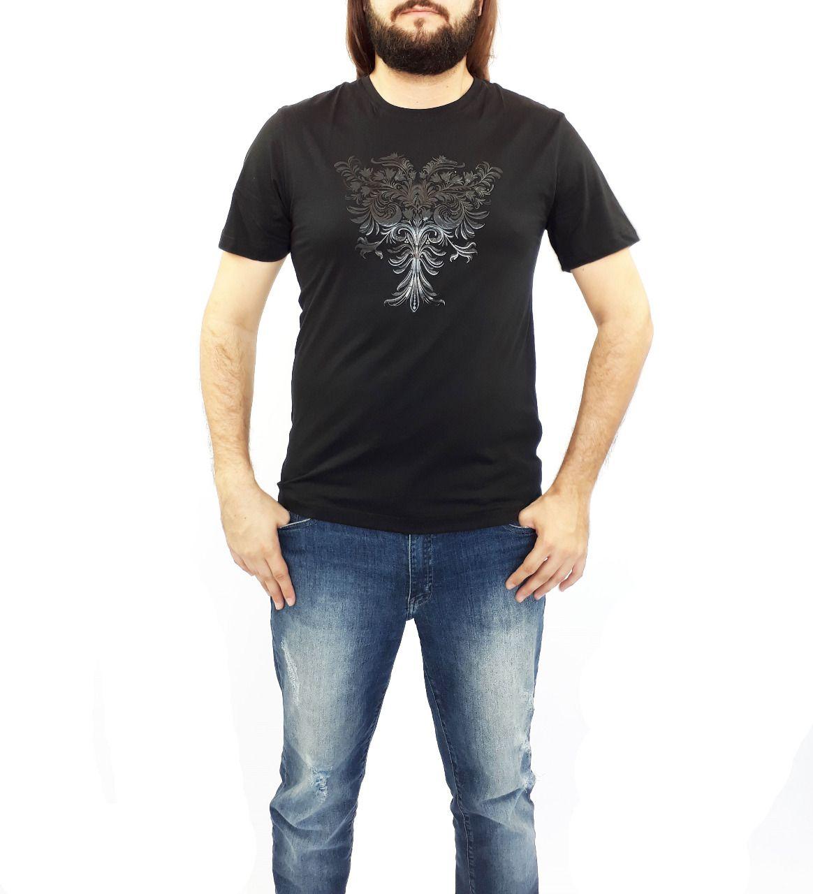 Camiseta Cavalera Masculina Preta Águia Estampada