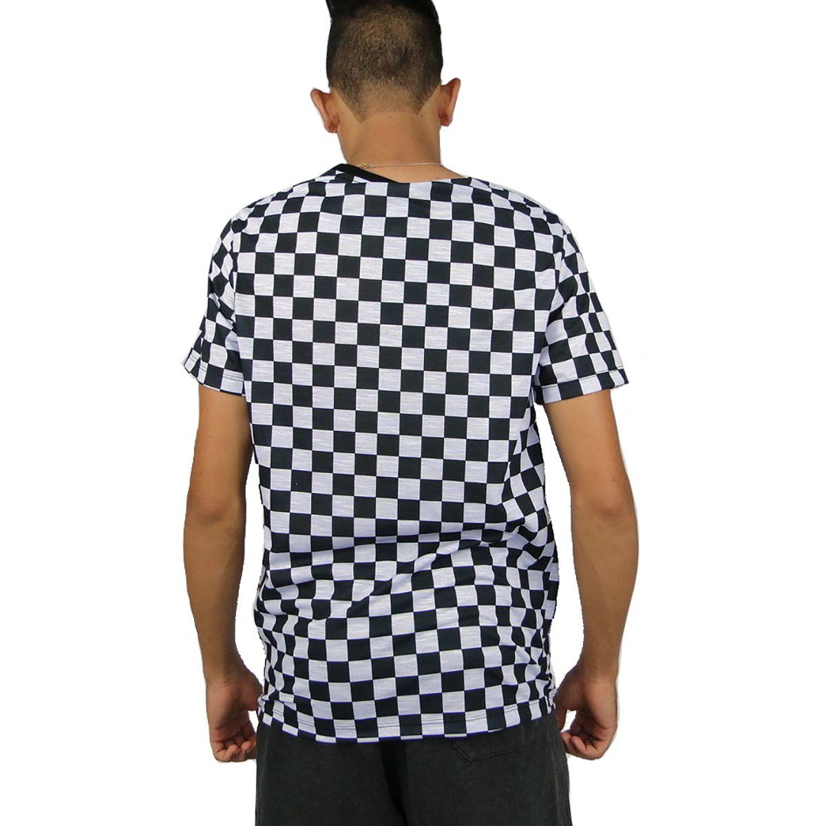 Camiseta Cavalera Masculina Quadrados