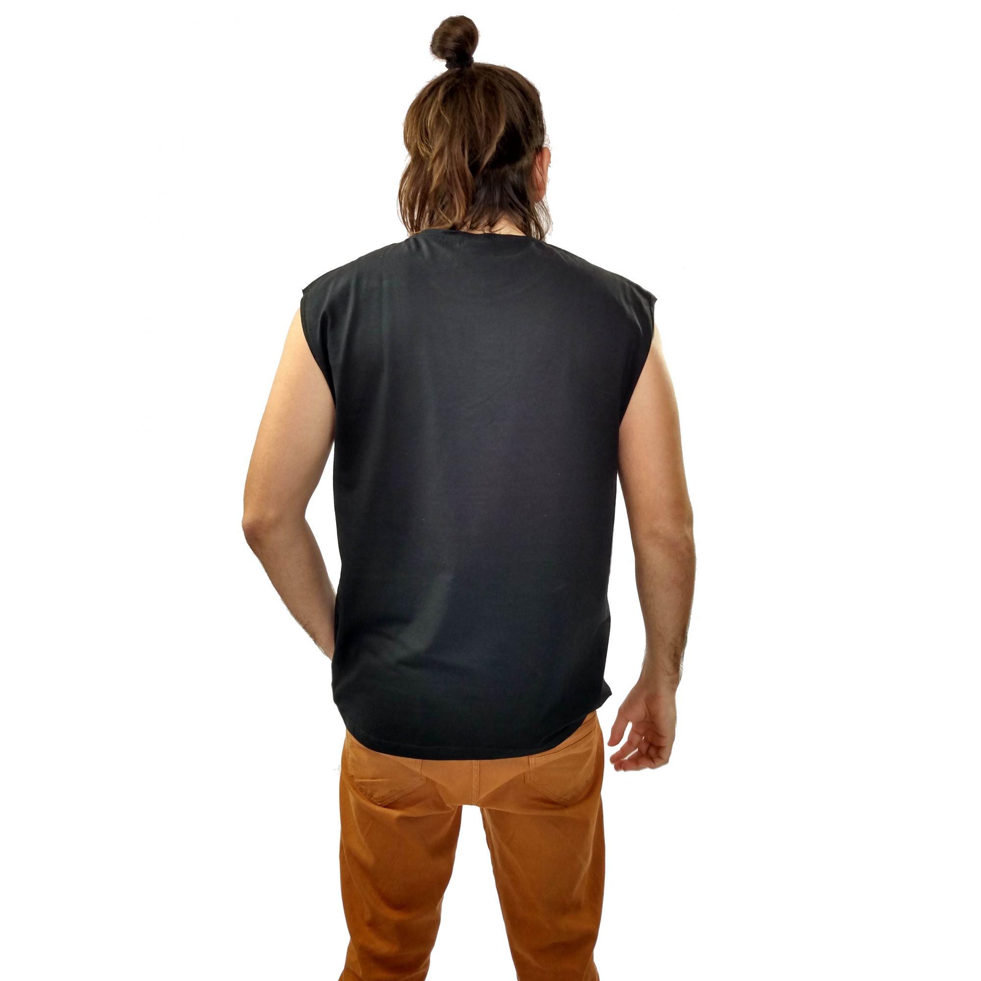 Camiseta Cavalera Masculina Regata Águia Dupla Face