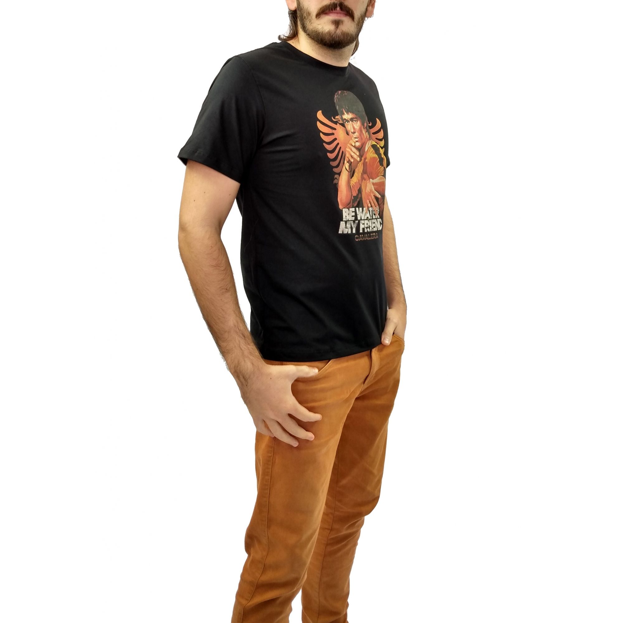 Camiseta Cavalera Masculina Personagem Bruce Lee