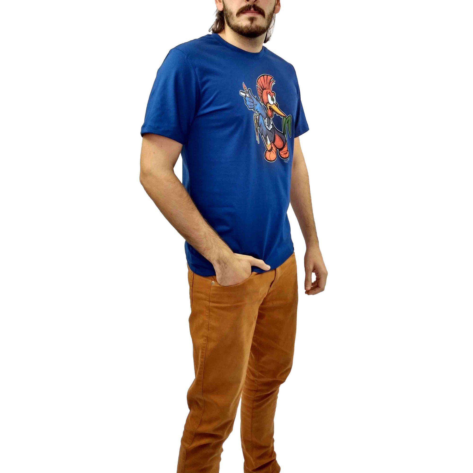 Camiseta Cavalera Masculina Pica Pau Azul