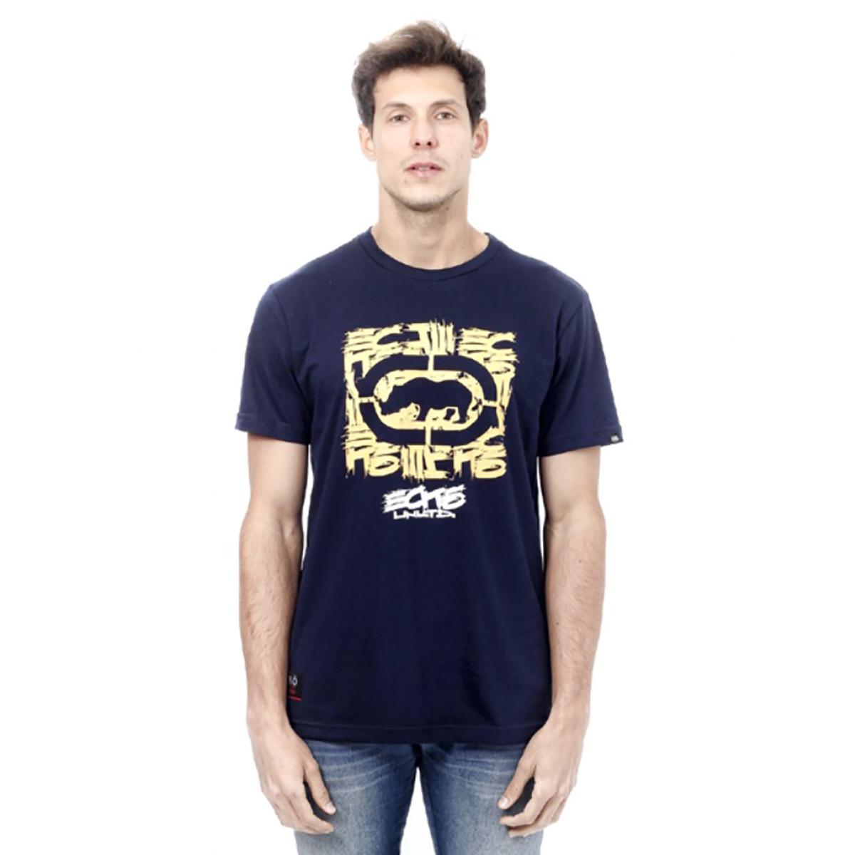 Camiseta Ecko Masculina Azul Navy