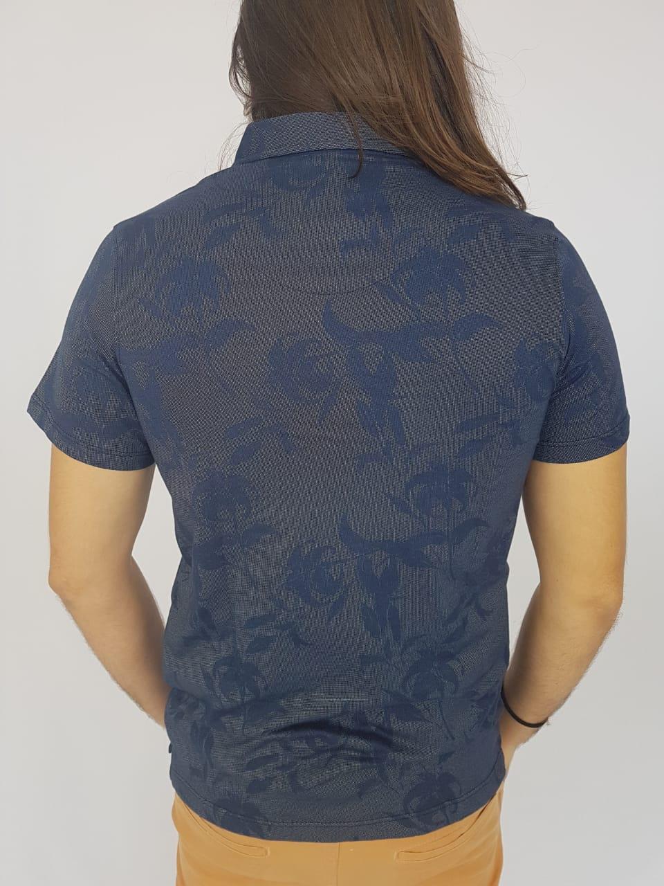 Camiseta Masculina Ogochi Polo Manga Curta Floral