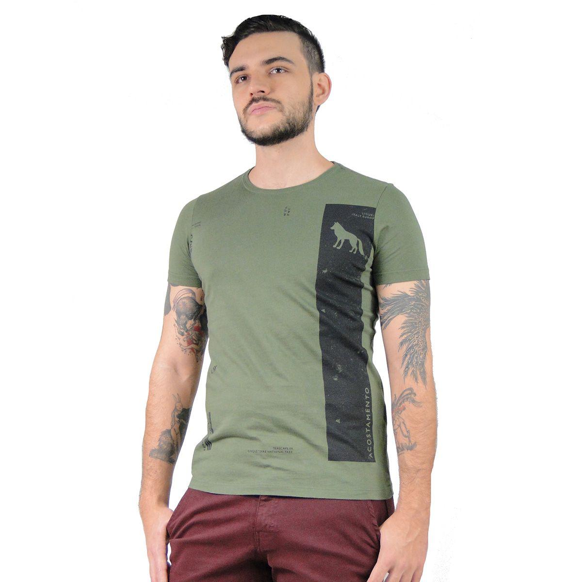 Camiseta Acostamento Lobo Verde