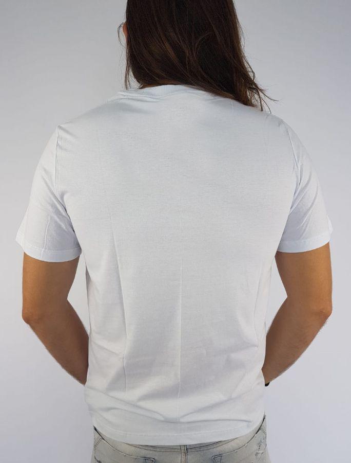Camiseta Cavalera Masculina Estampada Branca