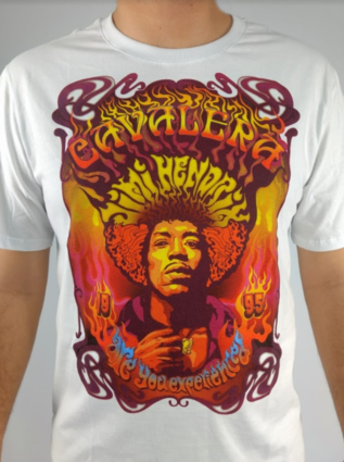 Camiseta Masculina Cavalera Jimi Hendrix  - Pick Tita