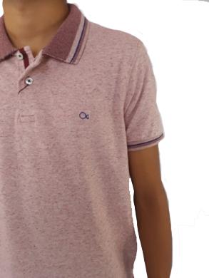 Camiseta Ogochi Masculina Polo Rosa