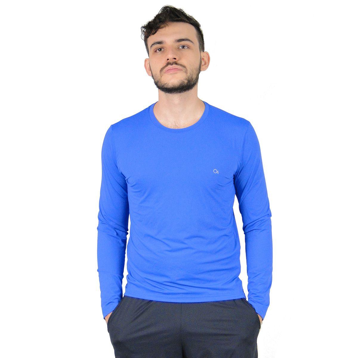 Camiseta Ogochi Masculina Solar Proteção Azul