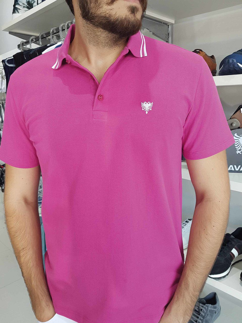 8d9c112067 Camiseta Polo Cavalera Piquet Frisos Masculino