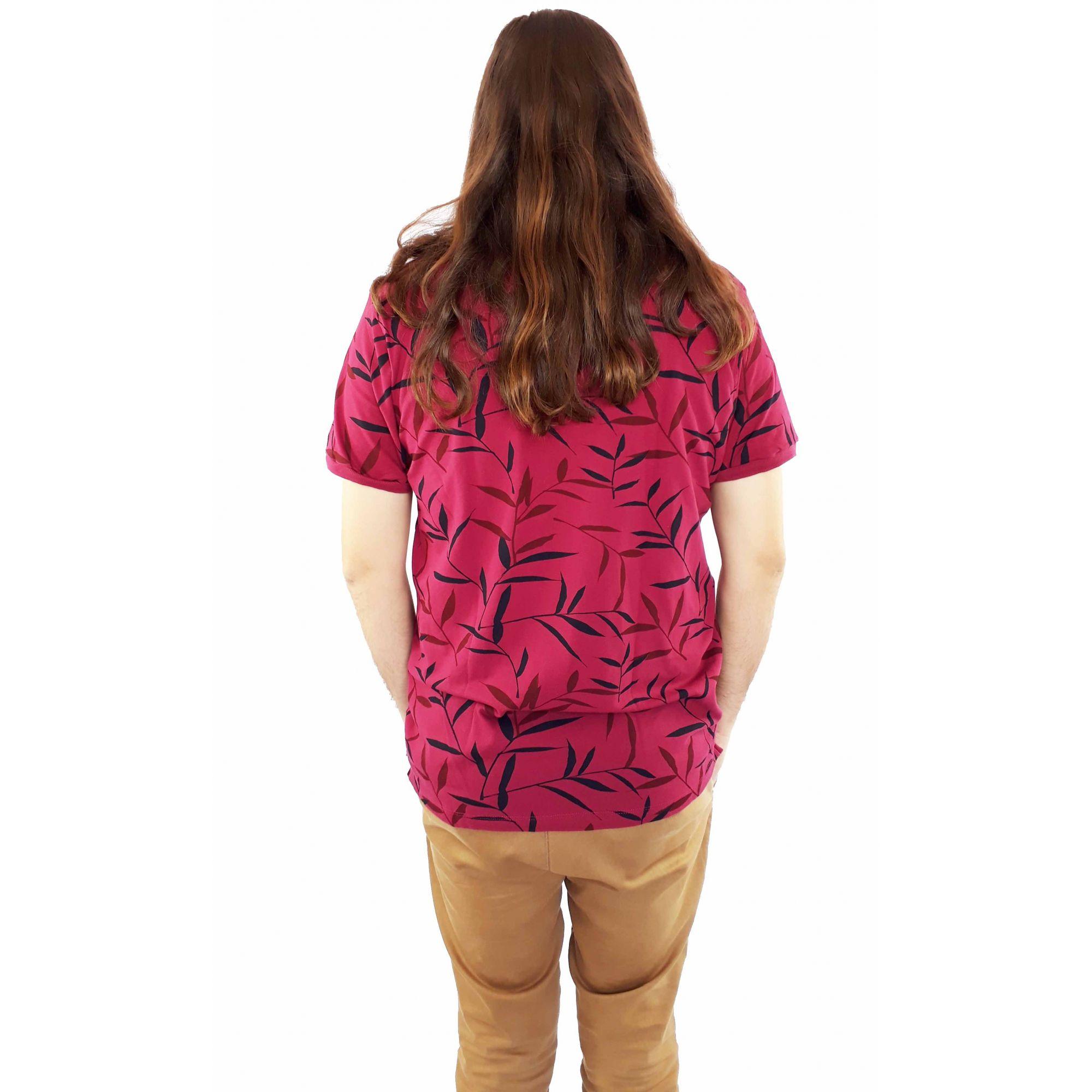 Camiseta Ogochi Masculina Polo Floral Estampada