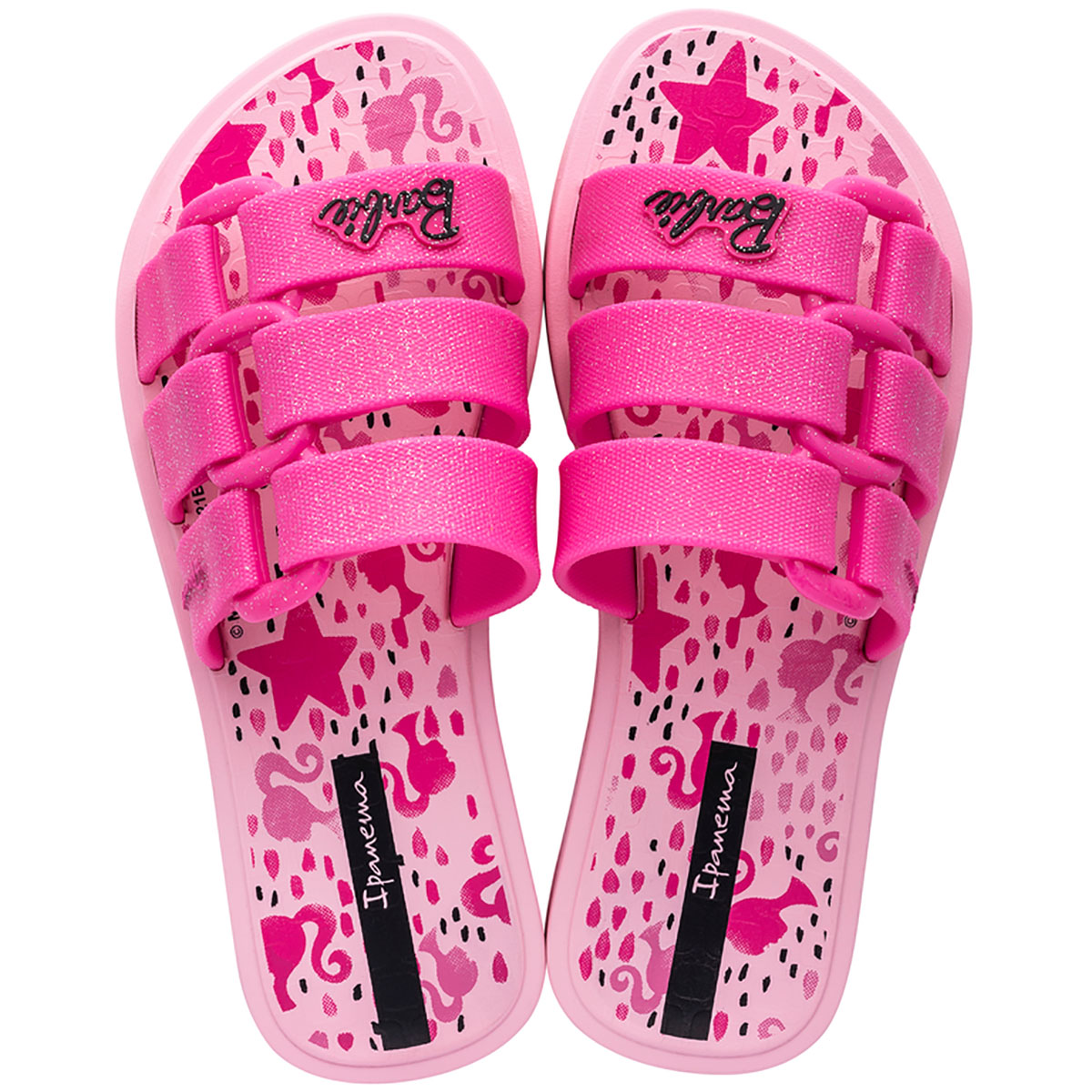 Chinelo Ipanema Barbie Slide Girl Rosa