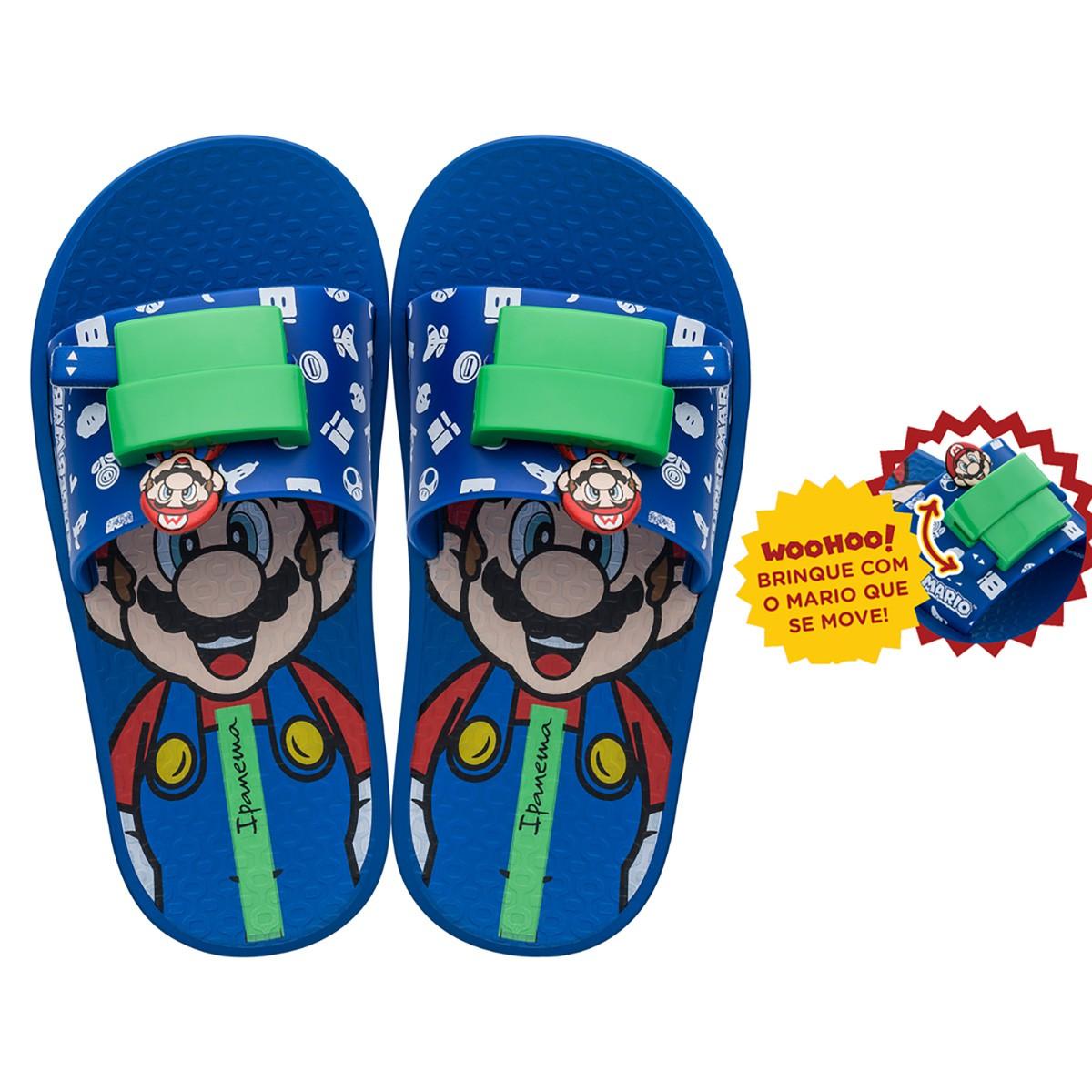 Chinelo Ipanema Super Mario Masculino Slide